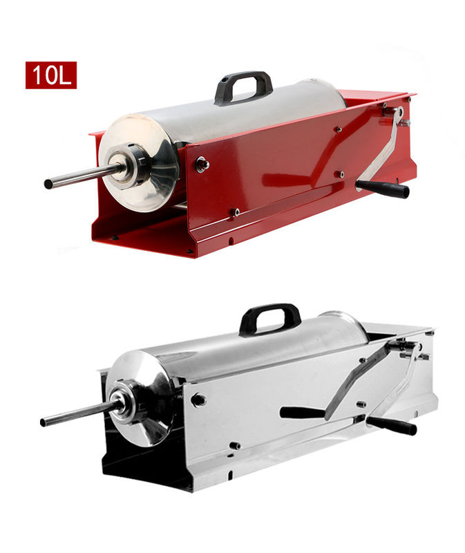 76 * 22.5 * 18cm Home Sausage Making Equipment Hand Crank Sausage Stuffer 10 Kg